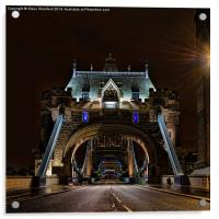 Tower bridge at night, Acrylic Print