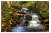 Waterfall at Lumsdale, Acrylic Print