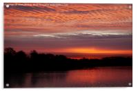 Red Sky At Chasewater, Acrylic Print