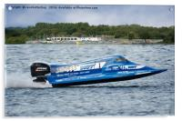 Powerboat GP Championship At Chasewater, Acrylic Print