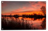 Thurne Windmill Sunset River Thurne, Acrylic Print
