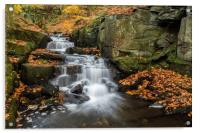 Lumsdale in Autumn, Acrylic Print