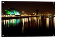 Glasgow by the river Clyde, Acrylic Print