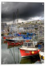 Mevagissey Inner harbour Cornwall, Acrylic Print