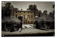 Old country house with snow, Acrylic Print