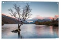 Sunset at Llyn Padarn, Acrylic Print