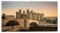 Conwy Castle Sunset Panorama, Acrylic Print