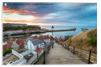 Sunset over Whitby Harbour, Acrylic Print