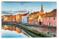 Town Houses in Norwich, Acrylic Print