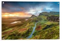 Stunning sunrise over the Quiraing, Acrylic Print