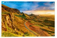 Beautiful sunrise over the Quiraing on the Isle of, Acrylic Print