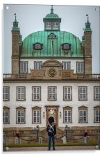 Fredensborg Palace with Armed Guard, Acrylic Print