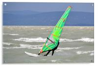 Windsurfing Lake Balaton, Acrylic Print