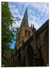 Chesterfield Crooked Spire, Acrylic Print