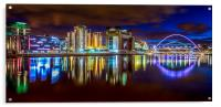 River Tyne at Night, Acrylic Print