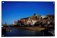 Whitby South Cliff, Acrylic Print