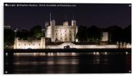 Night Falls over the Tower of London and Thames , Acrylic Print