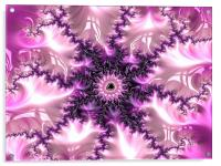 Pink and purple abstract art, Acrylic Print