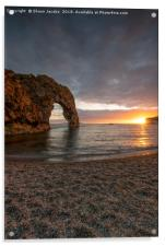 Durdle Door bathed by the sun , Acrylic Print
