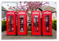 red telephone boxes , Acrylic Print