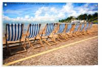 Empty deckchairs at Southend, Acrylic Print