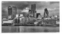 London Skyline in Black and White , Acrylic Print