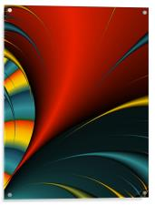 Abstract Feather Close-up, Acrylic Print