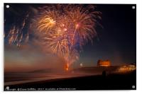 Fireworks from Fistral Beach, Acrylic Print