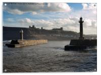 Whitby Harbour Entrance, Acrylic Print