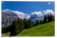 Alpine Meadow with Mettenberg and the Eiger, Acrylic Print