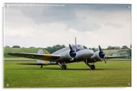 Avro Anson parked on the grass, Acrylic Print