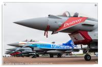 Seven Typhoons lined up on the static park, Acrylic Print
