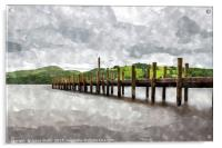 Jetty on Coniston Water, Acrylic Print