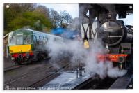 Steam and Diesel., Acrylic Print