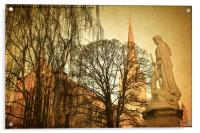 Nelson statue and Norwich Cathedral, Acrylic Print