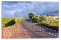 Beautiful Scottish road in the countryside, Acrylic Print