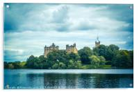 St. Michael's Church and Linlithgow Palace, Lonlit, Acrylic Print