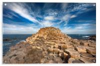 The Giant's Causeway, Acrylic Print