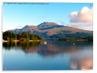 The peacful tranquility of Loch Lomond, Acrylic Print