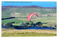 PARAGLIDING OFF SNAEFEL, Acrylic Print