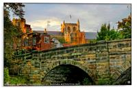 """Evening light over Ripon Cathedral"", Acrylic Print"