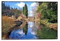 """Reflections at Thorp Perrow"", Acrylic Print"