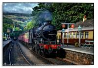 """1264 Arrives at Grosmont"", Acrylic Print"