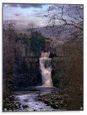 """""""Cool Winter evening at High Force"""", Acrylic Print"""