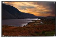 """Night approaches at Wastwater"", Acrylic Print"
