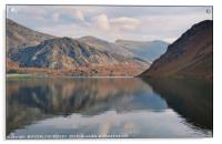 """Cloud reflections at Ennerdale water"", Acrylic Print"