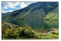 """Early morning reflections at Wastwater"", Acrylic Print"