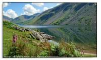 """""""Foxglove and reflections at Wastwater 2"""", Acrylic Print"""