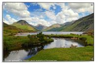 """""""Cloud reflections at Wastwater"""", Acrylic Print"""