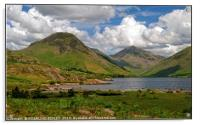 """""""3D Clouds at Wast Water"""", Acrylic Print"""